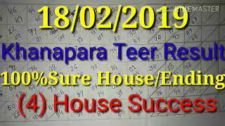 #Khanapara_Teer_Result 18-02-2019 || Khanapara Teer Result Today, 100% Sure House Ending