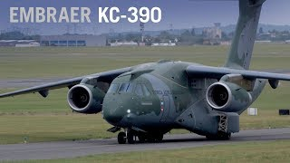Embraer's KC-390 Military Transport Jet Makes Paris Debut, Nears Certification – AINtv