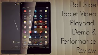 iBall Slide Tablet Video Playback Demo & Performance Review