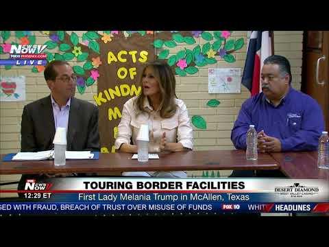 TOURING BORDER FACILITY: First Lady Melania Trump in McAllen, Texas (FNN)