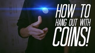 Learn Coin Magic : HANG COINS IN MID-AIR! - Coin magic TUTORIAL
