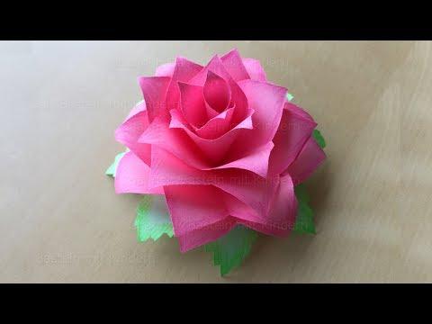 Blumen Aus Papier Selber Machen Rosen Basteln Diy Deko