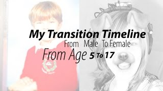 MtF Transgender Timeline ★ Hannah Phillips Real ★