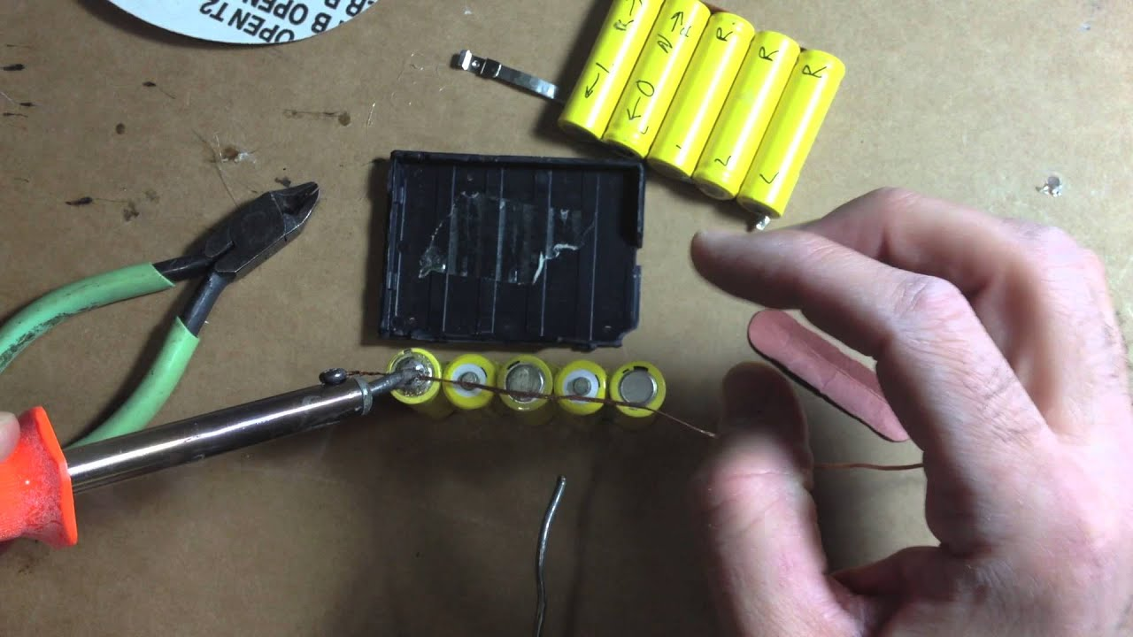 Make Your Own Rc Car Battery Pack Or Repair Nikko Ni Cd 6
