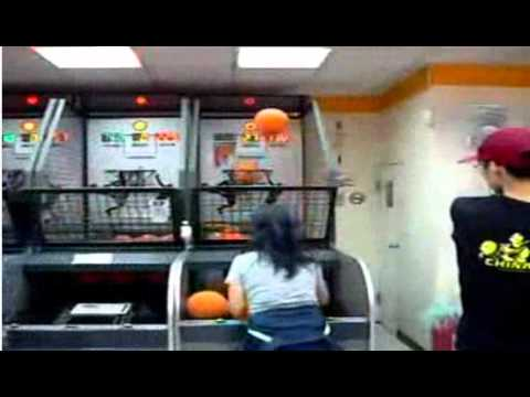 Chinese Girl Owns Mini Hoop. playing basketball. NBA female sensation LOL