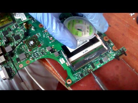 Reparación placa base hp compaq 6735s FALLO NO ENCIENDE PORTÁTIL
