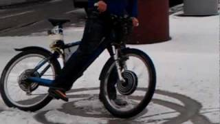 winter donuts with Dual Hub E-bicycle   2 x 48v 1000w