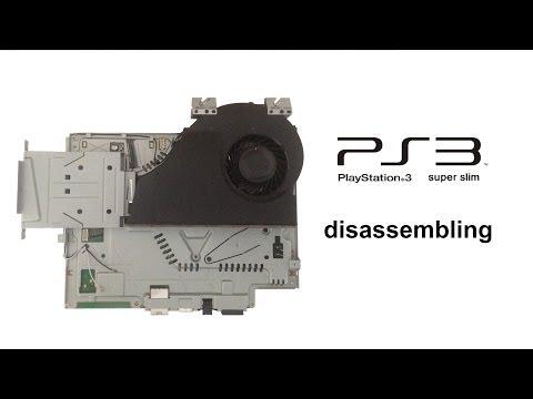PlayStation 3 - ultra / super (ultra) slim - disassembling / take apart