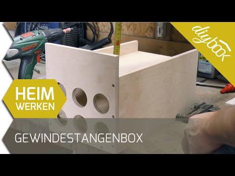 Werkzeugkiste selber bauen:  Aufbewahrungsbox für Gewindestangen