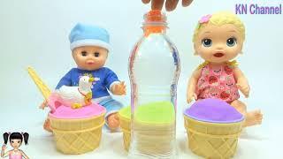 Thơ Nguyễn - Búp bê tìm đồ chơi bất ngờ trong ly kem