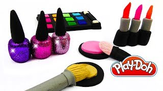 How To Make Play-Doh Make Up Cosmetics Set DIY