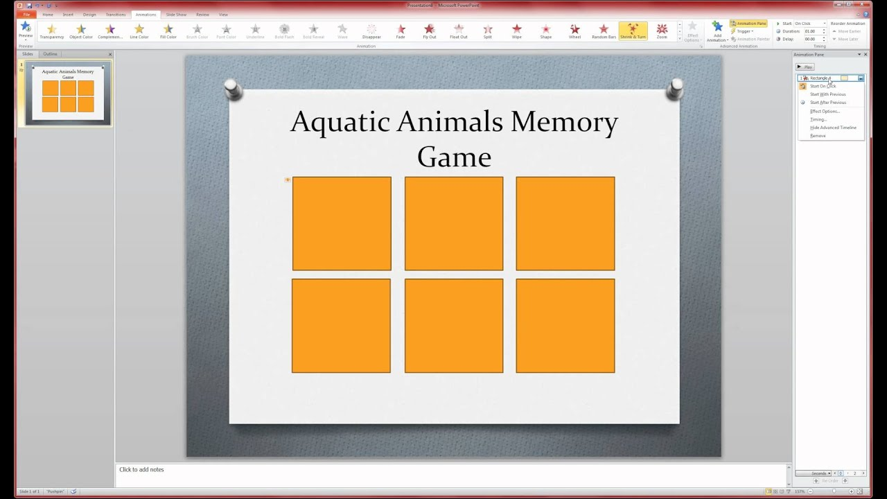 Matching Game Template Powerpoint