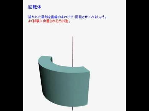 中学受験 算数問題(回転体のイメージ) - YouTube : 中学 算数 : 中学