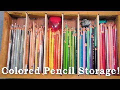 colored pencil storage youtube. Black Bedroom Furniture Sets. Home Design Ideas