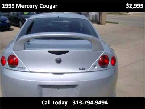 1999 Mercury Cougar Used Cars Redford MI