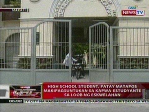 QRT: High school student sa Makati, patay nang makipagsuntukan sa kapwa-estudyante sa eskwelahan