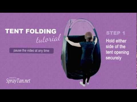 How to Fold a Spray Tan Pop-Up Tent