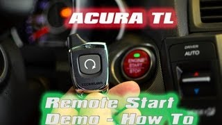 ACURA TL REMOTE START 2012 SHAWD TECH, Code Alarm, IDATALINK, AutoToys.com (HOW TO)