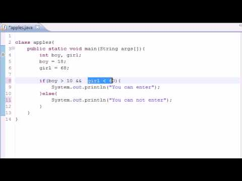 Java Programming Tutorial - 11 - Logical Operators