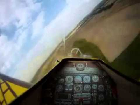 RC 91 trim flight with footage filmed from the cockpit of the plane  Right thrust check