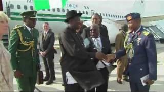 President Goodluck Ebele Jonahan Arrives at the G8 Summit..