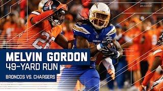 Melvin Gordon Breaks Off 49-Yard Run! | Broncos vs. Chargers | NFL