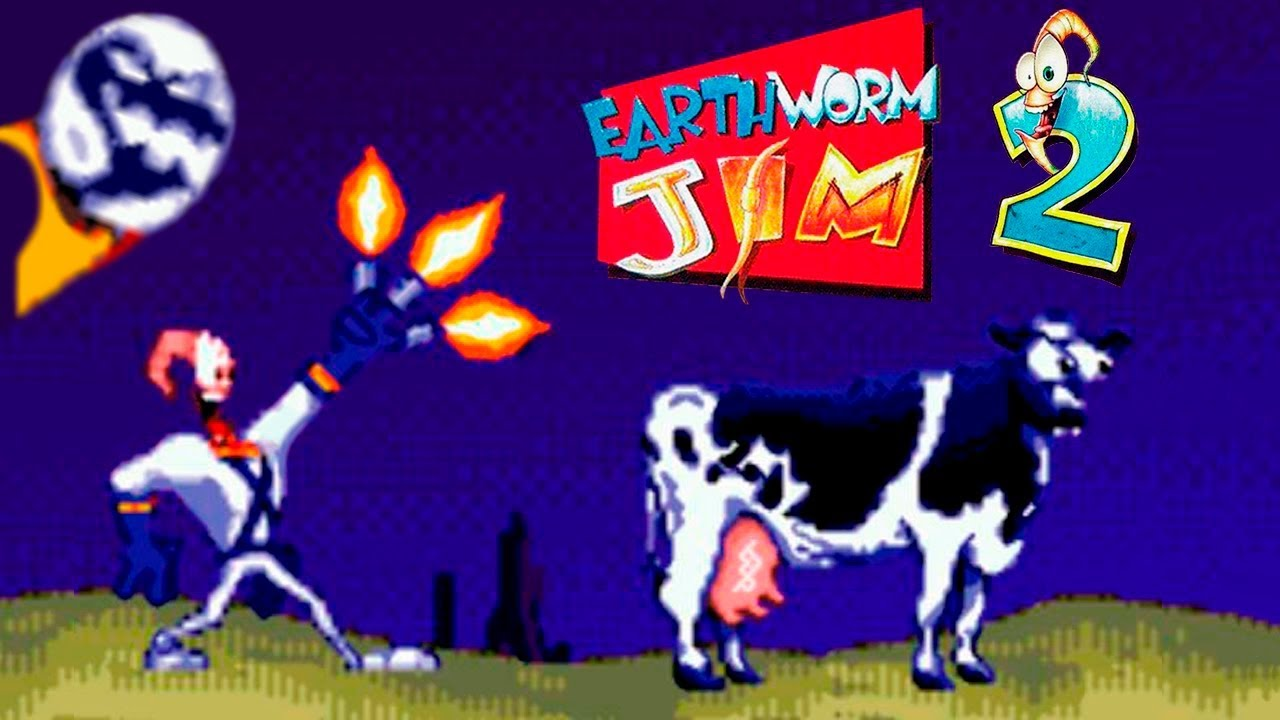 Earthworm jim 2 was also ported to the 32-bit platforms by a company called screaming pink