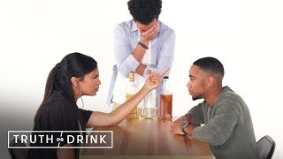 My Fiancé & My Ex Play Truth or Drink | Truth or Drink | Cut