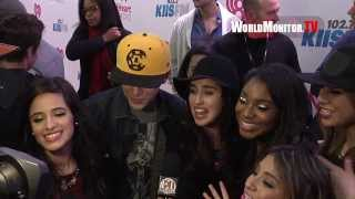 Fifth Harmony meet Austin Mahone and Interviewed at KIIS FM
