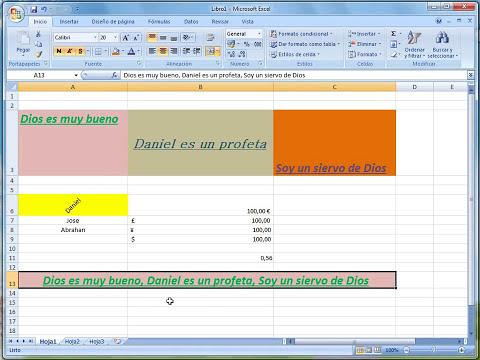 Vídeo 4 | Formatos de celdas Excel 2007 | Fuentes, Alineaciones y números