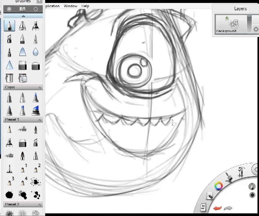 how to draw mike wazowski
