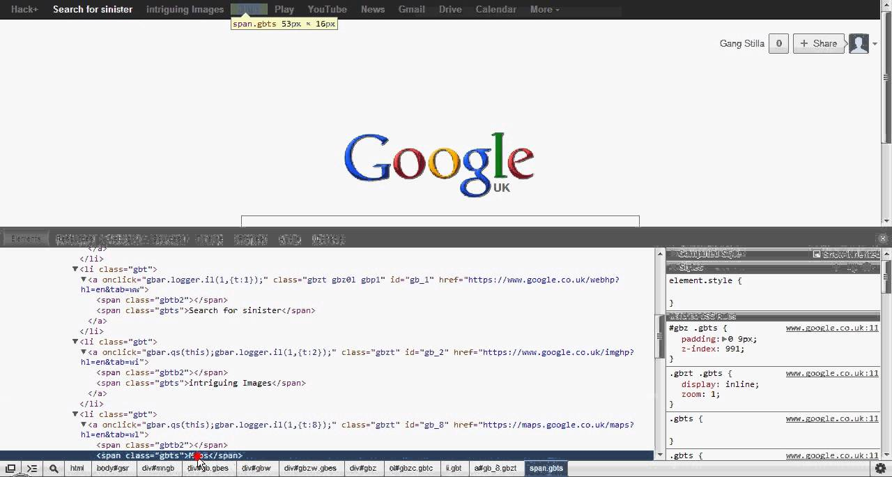 How to hack google using google chrome's 'inspect element ...