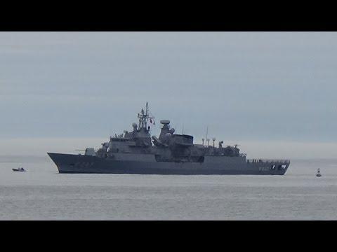 german and turkey navy coming into halifax novascotia 2014