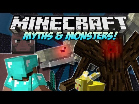 Minecraft   MYTHS & MONSTERS! (NEW Bosses. Mobs & Weapons!)   Mod Showcase [1.4.7]