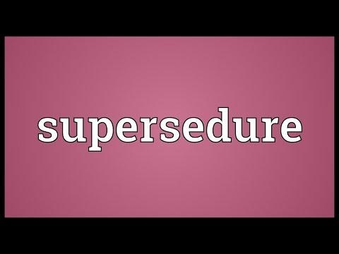Header of supersedure