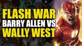 Wally West vs Barry Allen (Flash War Part 2)
