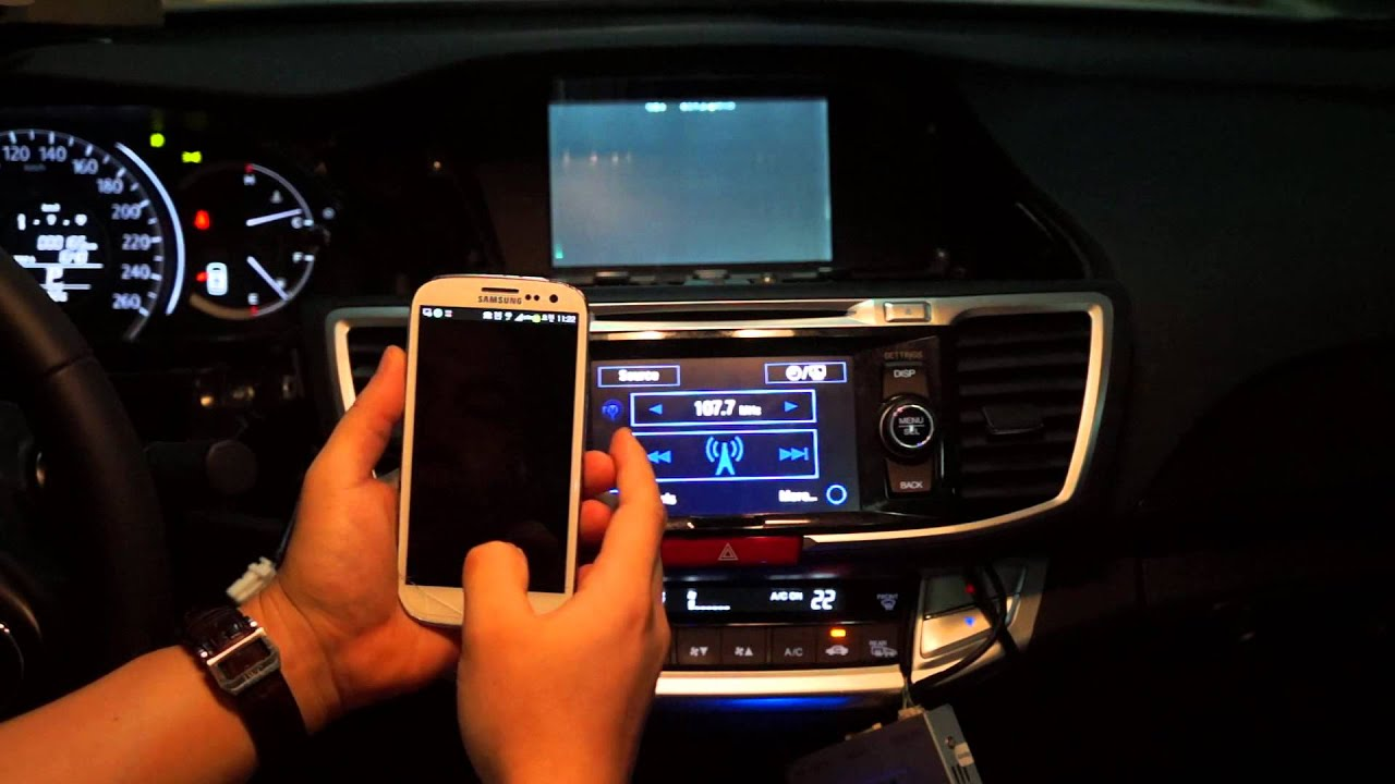 2013 Honda Accord Sport >> HONDA ACCORD MIRROR Link - GALAXY S3 - YouTube