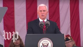 Watch live: Pence delivers remarks at Veterans Day ceremony in Arlington Cemetery