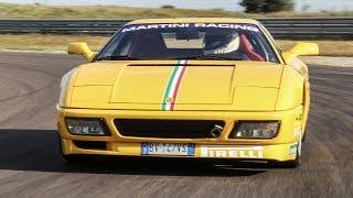 Ferrari 348 Challenge + GTS - TEST in pista - Davide Cironi Drive Experience (SUBS)