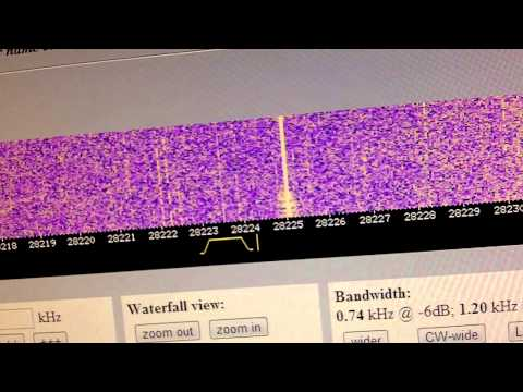 My 10 Meter Beacon Heard On SDR
