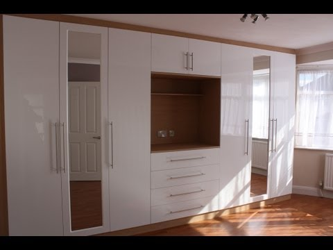 Fitted Wardrobes Oak Gloss White Youtube