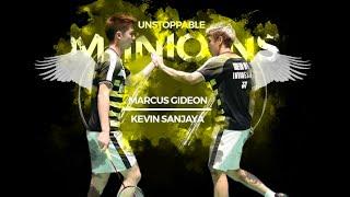 Best Doubles Badminton Pair on Earth | Best of Kevin Sanjaya & Marcus Gideon 2018 | Rallies & Skills