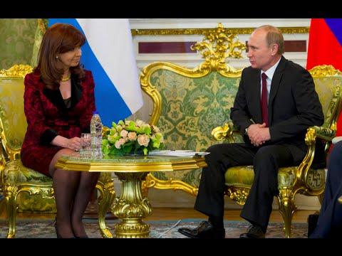 23 de ABR. Cristina Fernández se reunió con Vladimir Putin. Visita Oficial a la Federación Rusa.