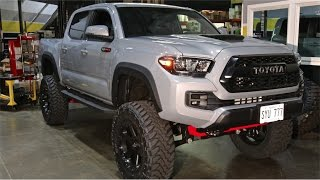 """2017 TRD PRO Tacoma: 6"""" BDS, 35"""" Toyo MTs on 20x9 Fuel Ripper Wheels"""