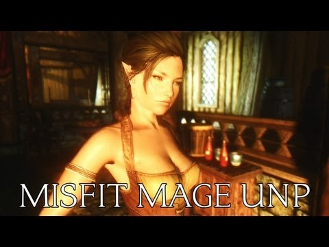 TES V - Skyrim Mods: West Wind Combat Series - Misfit Mage UNP