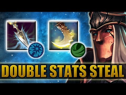 Double Attribute Steal Abilities [Passive Stolencer + Funny Item build] Dota 2 Ability Draft
