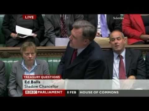 Ed Balls v George Osborne 1st Treasury Questions