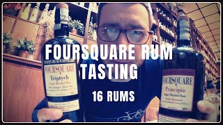Tasting 16 Foursquare Rums in 10 minutes