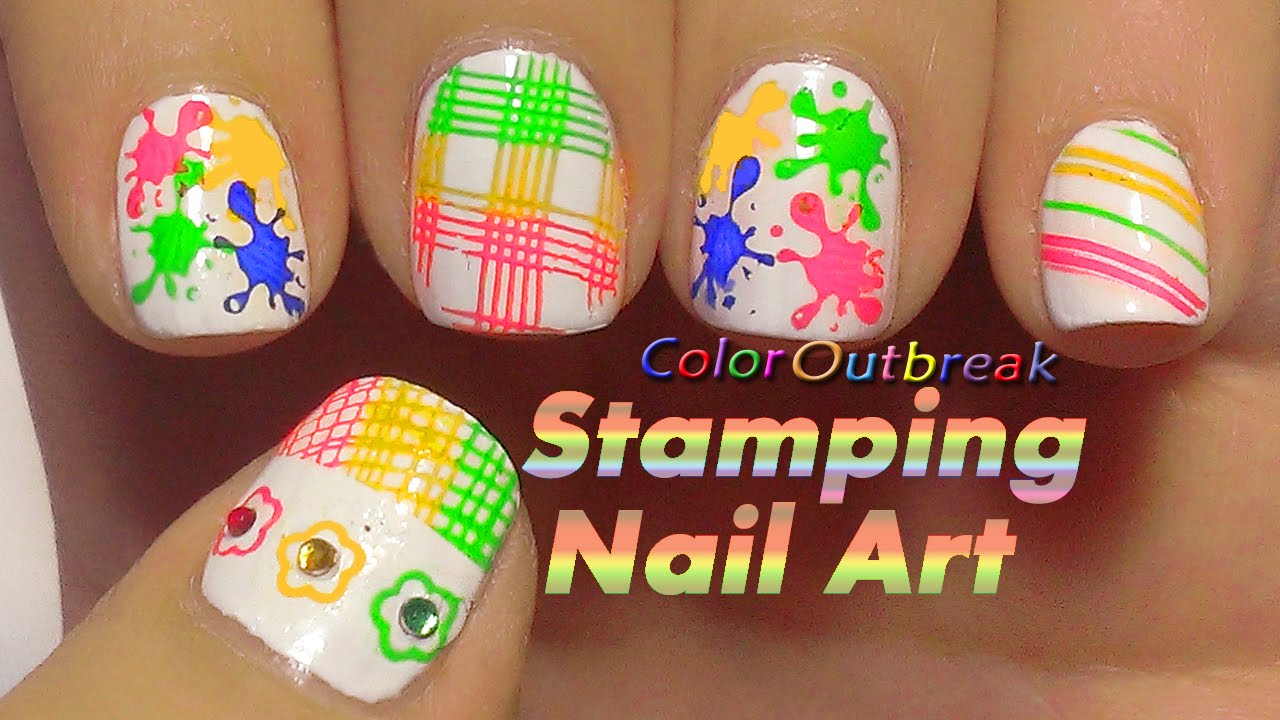 Color Splatter Nails Splash/splatter Nail Art