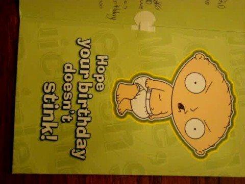 Family Guy BirthDay Card - YouTube